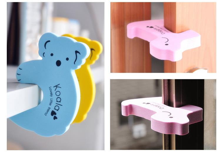 Cute Cartoon Animal Baby Care Edge Guards Door Stopper Holder Lock Safety Finger Protector 50 Pcs/lot