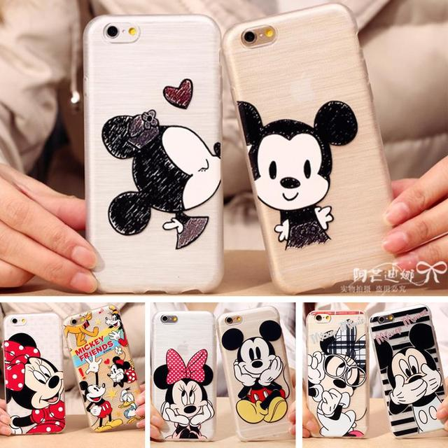 6e6118476f4 Mickey sweethearts phone case 4.7 inch Transparent Case Cases for fundas  carcasas iphone 6 de tapa marcas cristal