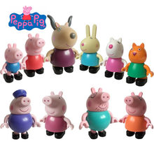 Подлинный PEPPA PIG Peppa Pig Collect Build & Play-строительные фигурки сумки-Rebecca Rabbit, suzy sheep peppa family toy Figure(China)