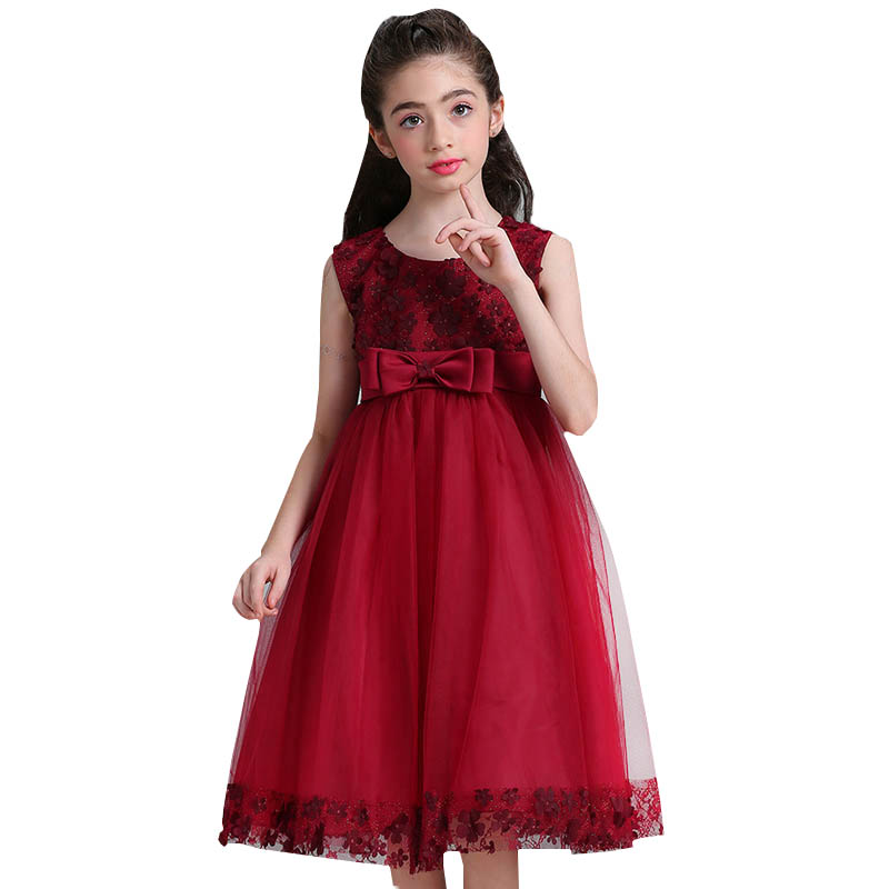 2019 Flowers Girl Dresses Appliques Bow First Communion Dresses Holy Wedding Party Ball Gown Elegant Dress Vestido Comunion