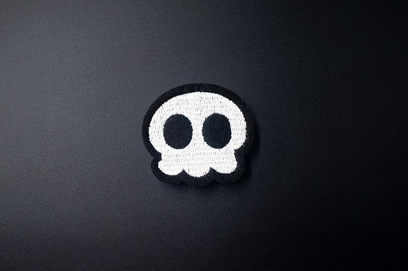 Удивительные сумасшедшие черепа DIY тканевые значки для украшения нашивки джинсы сумка шляпа Одежда Швейные украшения аппликация нашивки