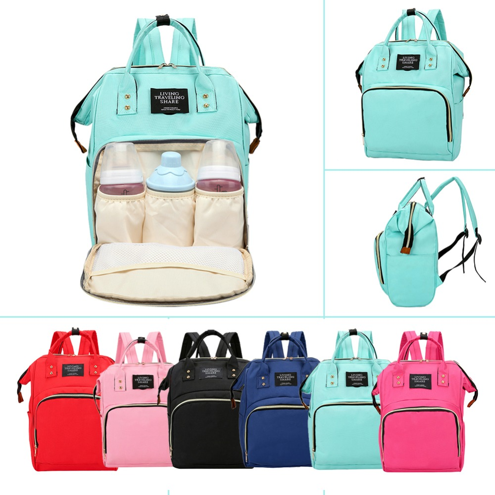 Fashion Mummy Backpacks Polyester Backpacks For Mom Maternity Nappy Bag Large Capacity Baby Bags Travel Shoulder Bags For Girls
