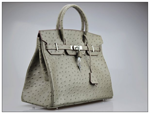 485d6bbfb5a8 Ostrich pattern Women s real leather casual fashion branded handbags ...