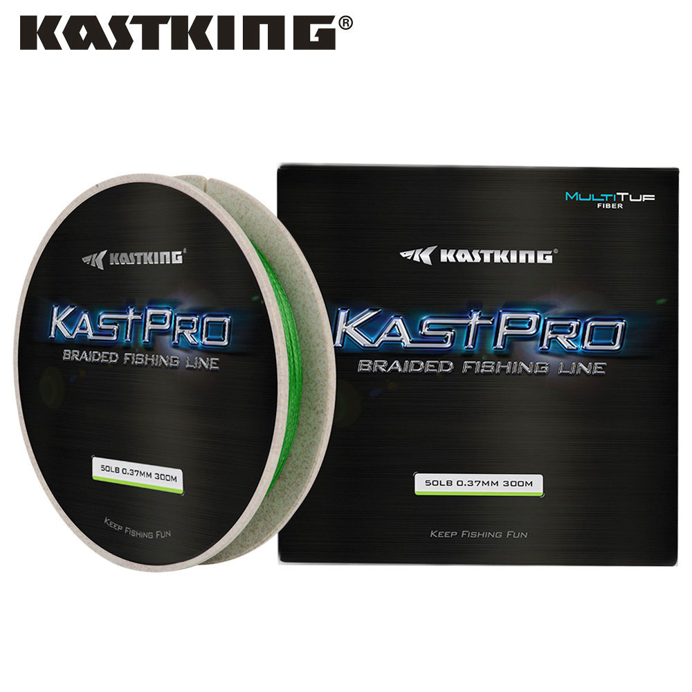 KastKing KastPro 4 Strand 8-80LB 150m 300m Fishing Line Round and Smooth MultiTuf PE Braided Fishing Line Multifilament Lines
