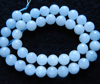 Free Shipping Natural 10mm Blue Calcite Smooth Round Loose Beads For Jewelry Making