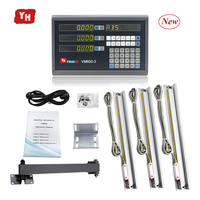 Complete 3 Axis Digital Readout Set DRO Kit Complete with DRO 3 PCS 5U Linear Scales Overall Sizes 250 350 450 550 650 750 850mm