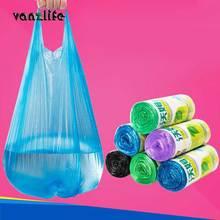 Vanzlife большие мусорные мешки для дома Портативный жилет Тип мешки для мусора кухня цвет утолщение маленькие пластиковые пакеты Завод диспенсер