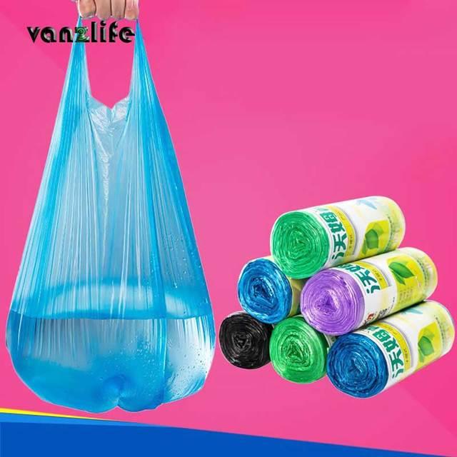 Vanzlife Lớn Túi đựng rác nhà di động lần loại túi đựng rác nhà bếp màu làm dày nhỏ túi nhựa Nhà Máy rửa bình