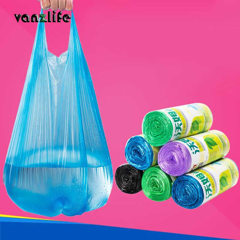 Vanzlife Large Trash Bags Home Portable Vest Type Garbage Bags Kitchen Color  Thickening Small Plastic Bags Factory Dispenser