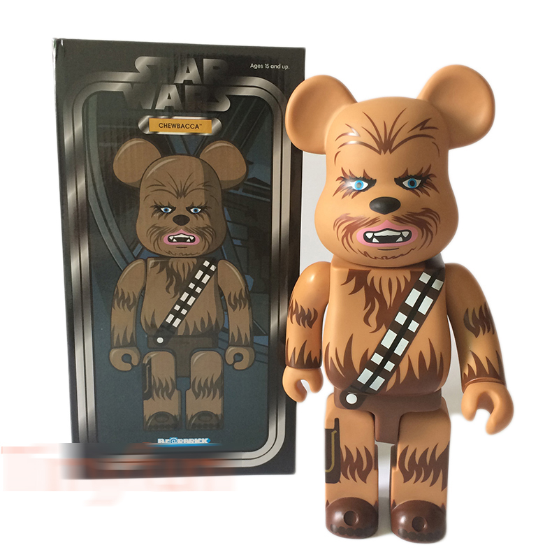 400% bearbrick Cosplay Star War Chewbacca be@rbrick Fashion Toy With Retail Box Replica high quality oversize 52cm bearbrick be rbrick matt diy pvc action figure toys bearbrick blocks vinyl doll 3 color optional