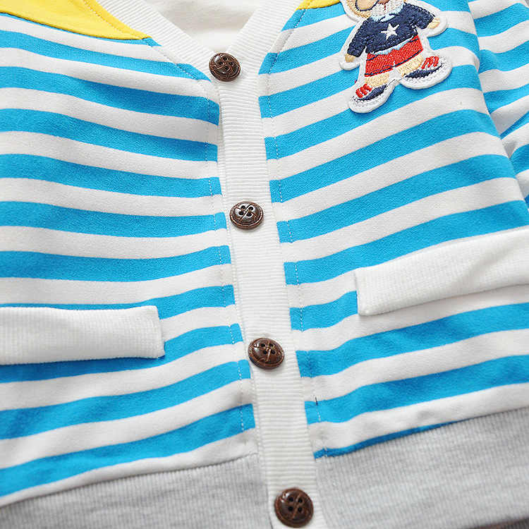 IENENS אביב פעוט תינוקות בנות בני פסים מעילי מעילי ילדי תינוק ילד ילדה כותנה מזדמן דק הלבשה עליונה צמרות בגדים