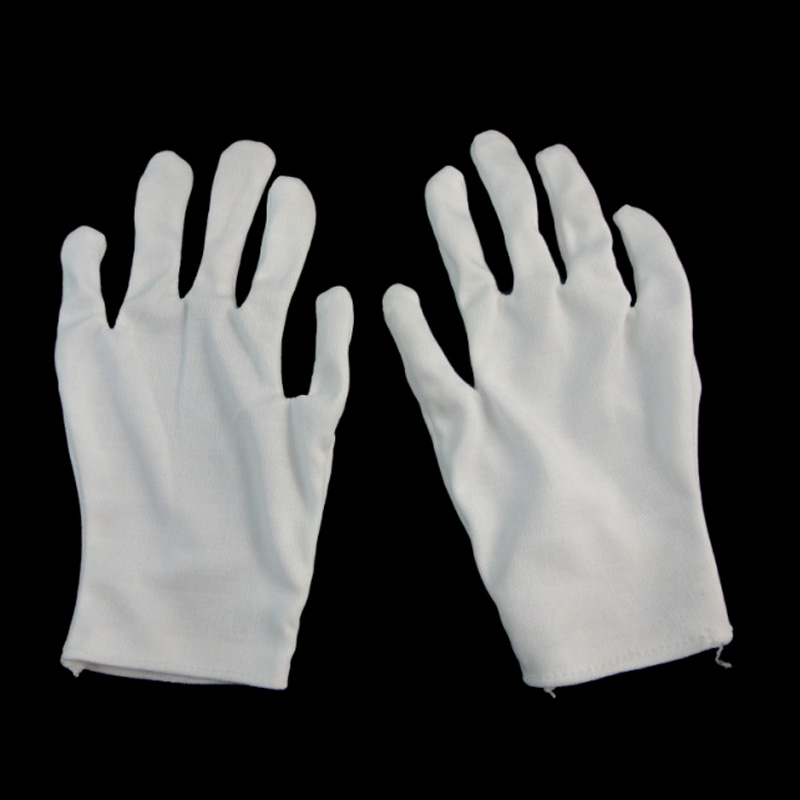 Newly 1 Pair Adult White Gloves Shuffle Dance Jewelry Care Performance Halloween Party Magician Magic Show Unisex Glove M99
