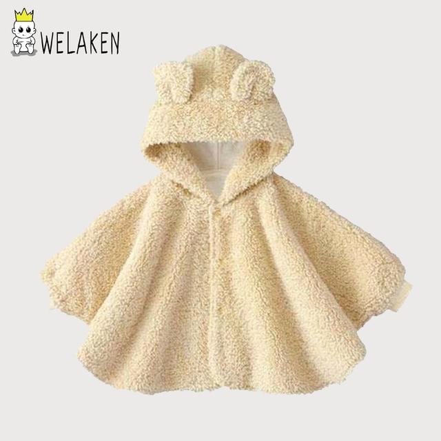 2017 Inverno Romper Do Bebê Roupas de Bebê Romper Crianças Cloak Crianças Marca Conjuntos de Roupas de Recém-nascidos Em Casa Dos Desenhos Animados Vestir Roupas Grossas