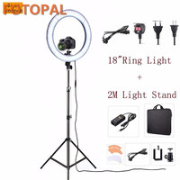 Fotopal RL 18 Inch LED Camera Video Phone Photo Studio 55W 5500K Daylight LED Ring Light Lamp Make Up Selfie Light Lamp&Tripod