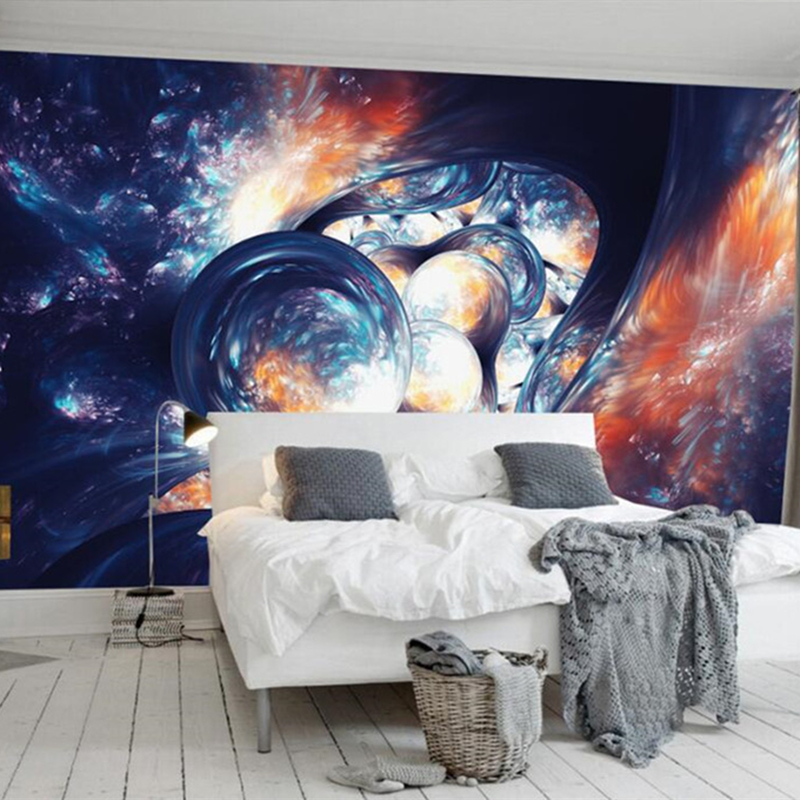 Custom 3D Photo Wallpaper European Modern Abstract Art Space Universe Bedroom Background Home Decor Wall Painting Ceiling Mural 3d wallpaper for living room home improvement modern wallpaper background wall painting mural silk paper abstract tunnel space
