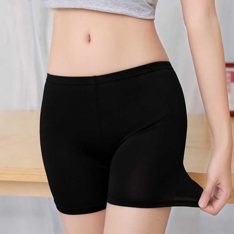 Bezpieczeństwa kobiet krótkie spodnie Femme bokserki figi moda bez szwu Sexy kalesony kobiety dzikie elastyczny pas majtki figi