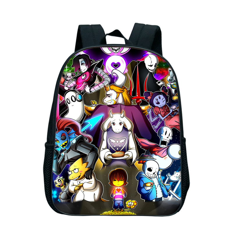 2017 New Fashion Undertale Backpack For Boys Girls School Backpacks For Children Kids Book Bags Kindergarten Bookbags Anime Bags 2017 new children school backpacks small 3d animal monkey backpack baby toddler backpack kids kindergarten schoolbag for boys