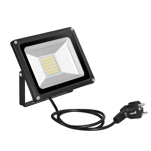 LED Flood Light 30W 220V Outdoor Lighting Refletor EU Plug Spotlights  Floodlight LED Projector Exterior Park