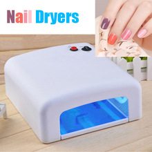 White Color UV Nail  Lamp 36w 220V-240V Nail Tools Dryer For Curing Nails Arts With 4PCS 365nm UV Bulbs