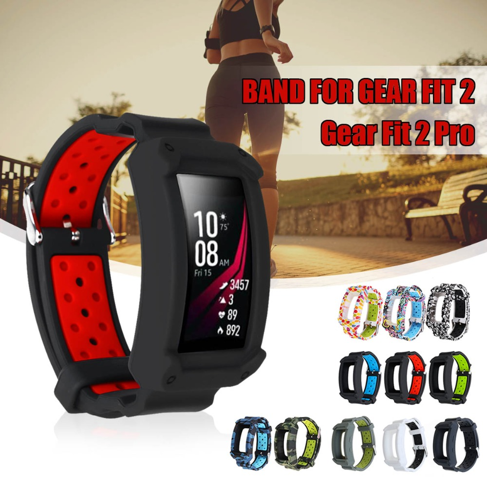 Silicone Wristband Watch Bands Replacement Strap For Samsung Gear Fit 2 SM-R360/Fit2 Pro R365 Strap Wristband Watch Bands