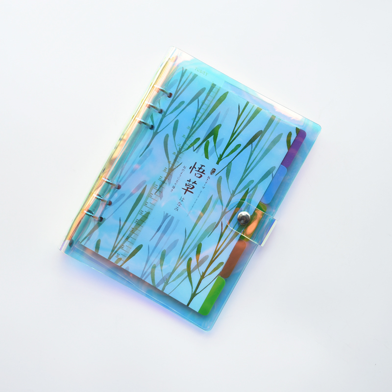 MaoTu Cute Rainbow Colorful Spiral Notebook A5 A6 160 Pages Blank Ruled Grid Dot Paper Office & School Pads Stationery
