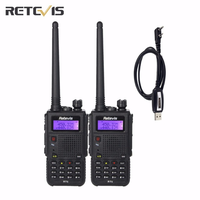 2X Large Capacity Retevis RT5 Walkie Talkie+USB Programming Cable Portable Amateur Two Way Radio Communication Equipment