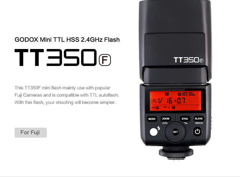 GODOX Mini TT350F X1T F TTL HSS 2 4GHz 1 8000 s GN36 Flash Pocket lights