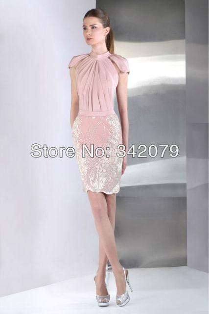 4d4c7cdcaab Ph09467 tony ward Pastel rose cocktail robe en Soie Marocaine Crêpe haute  couture courtes flowy robes