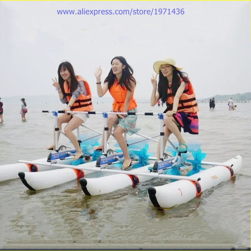 Amusement Equipment Water Bike Foot Operated Pedal Water Bicycle For Teenager