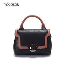 Hot Flap Women's Vintage Leather Brown Clutch Bag Ladies Handbags Brand Women Messenger Bags Sac A Main Femme 2017 Short Handle