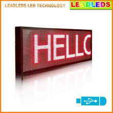 Leadleds 30″x11″ LED Display Screen Red Multi-line USB Programmable Scrolling Message Led Display Sign Indoor Lighting LED Lamp