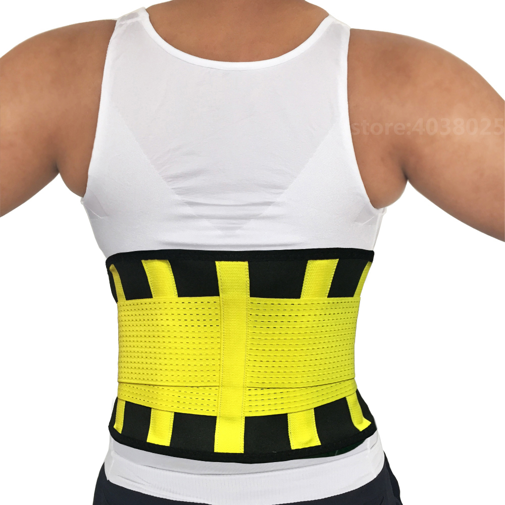 Hot-Sale-Exercise-Adjustable-Back-Support-Belt-Braces-Supports-Lumbar-Support-Brace-Black-Breathable-Waist-Trimmer
