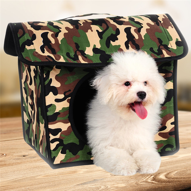 Camouflage Portable Pet Carriers Small Pets House Folding Pet Tent for Kittens Puppies 2017 Newest & Camouflage Portable Pet Carriers Small Pets House Folding Pet Tent ...