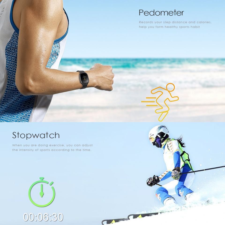 Femperna L42A Smart Bluetooth Bracelet Heart Rate Monitor Full color TFT-LCD Screen Smartband for apple xiaomi huawei phone