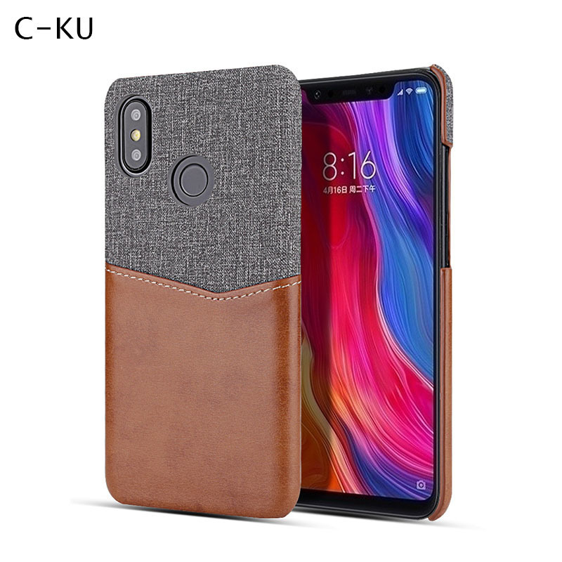 Luxury Leather Fabric Card Slot Holder Wallet Hard Back Case Cover for <font><b>Xiaomi</b></font> Mi 8 Se explore 5x 6x A1 A2 Redmi Note 5 Pro 5Plus image