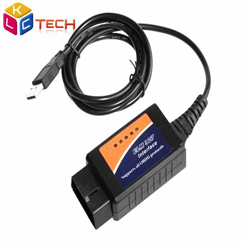 Prix pour Le plus bas Prix Meilleure Qualité Dernières ELM 327 USB V1.5 Interface Scanner OBD2 OBD II Car Auto Diagnostic Outil D'analyse usb elm327