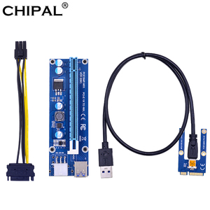 CHIPAL Mini PCI-E to PCI-E 16X Riser Card 0.6M USB 3.0 Cable for EXP GDC Laptop External Video Card for Miner Mining