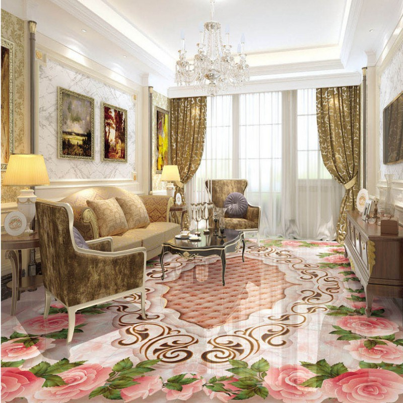 Free shipping European-style marble texture parquet 3D floor moisture proof self-adhesive living room wedding room wallpaper free shipping marble texture parquet reliefs 3d floor painting lifelike thickened wallpaper self adhesive bathroom mural