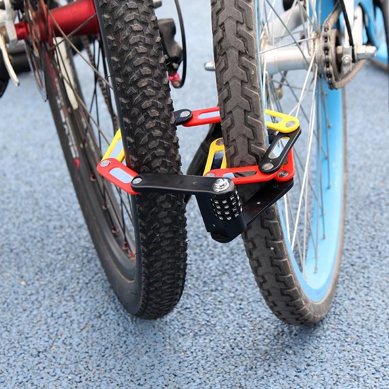 ULAC Bike Bicycle Password Combination Folding Lock Cycling Anti-theft portable