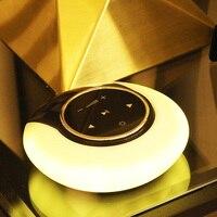 POTENCO Cool Nightlights LED Multicolor Night Light Romantic Moon Bluetooth Speaker Table Lamp Portable Foldable Creative