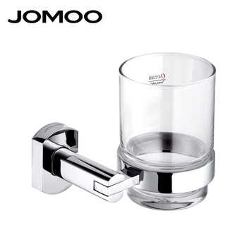 JOMOO Brand Toothbrush Holder Chrome Finish Tumbler & Holder With Cup Bathroom Accessories Tumbler Holder 933602 packaging and labeling