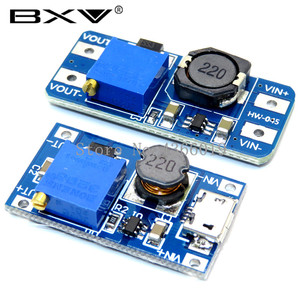 1PCS MT3608 DC-DC Adjustable Boost Module 2A Boost Plate Step Up Module with MICRO USB 2V-24V to 5V 9V 12V 28V(China)
