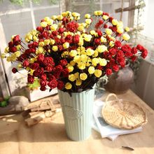 Christmas Colorful Foam Flowers artificial flower 15 heads Mini Rose Home Decor for wedding small roses bouquet decoration