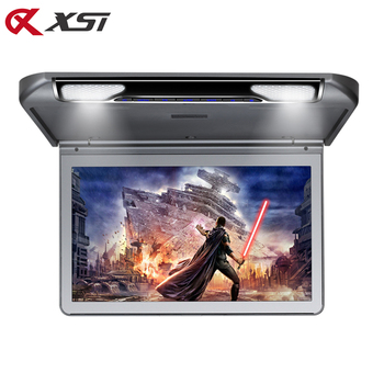 XST 13.3 Inch Car Ceiling Flip Down Roof Mount Monitor with Full 1920×1080 Screen MP5 Player With HDMI USB SD IR FM Transmitter