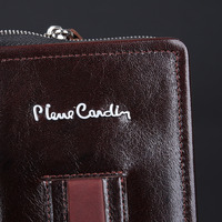 PierreCardin Casual Reticule Bag Man Bag Genuine Leather Bag Strap For Samsung Galaxy Note 8 7 5 4 Pouch Mobile Phone Case Cover