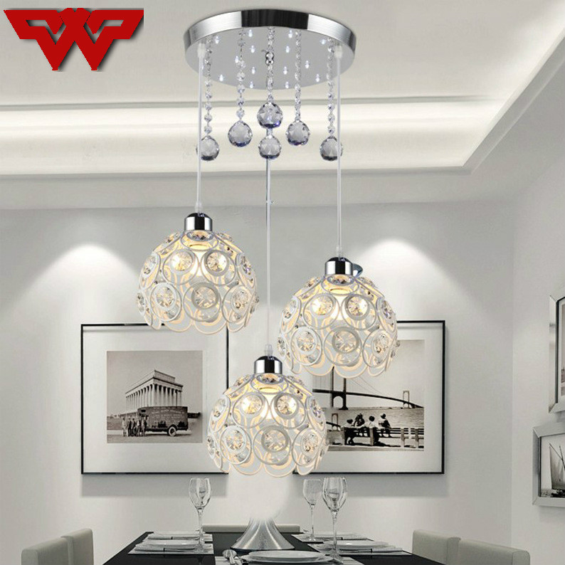 все цены на Led Modern Minimalist Restaurant Chandelier Crystal Chandeliers Three/Single Head Personalized Dining Table Bedroom Bar art Lamp