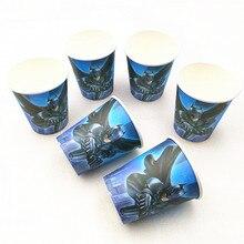 10pcs/lot paper cup Cartoon Batman Avergers Super hero Kids Birthday party supplies event Decoration Set
