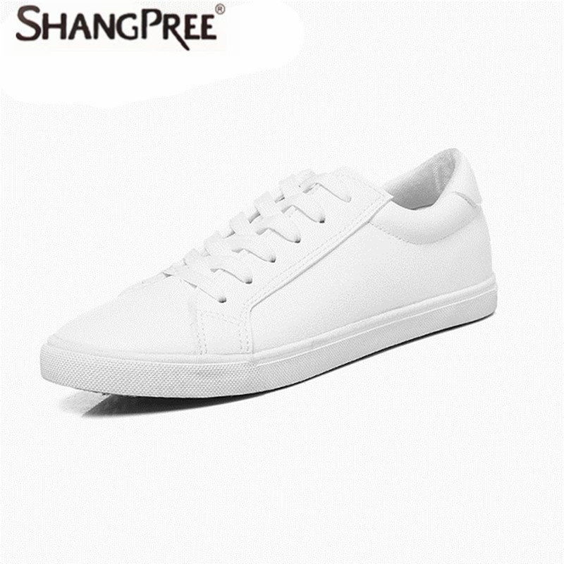 2017 New Fashion Spring And Summer Women flat Shoes Female Leather Casual Shoe female white Board shoes Comfortable the new spring and summer ms south korea ensure their boots comfortable show female water thin antiskid tall canister shoe