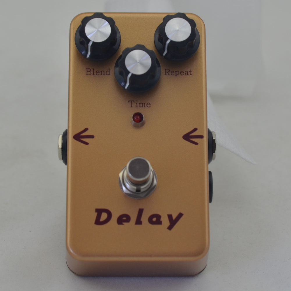 buy delay electric guitar effect gold pedal analog delay guitar effect pedal. Black Bedroom Furniture Sets. Home Design Ideas