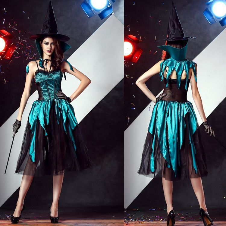 Adultos Cosplay Vestido De Bruja De Halloween Devil RPG Discoteca Maquillaje Del Partido de Cosplay de